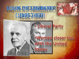 Diefenbaker PPT FINAL