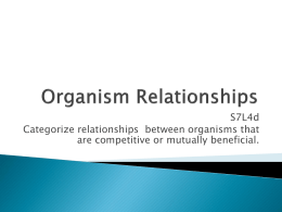 PPTX Organism Relationships