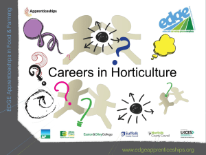 Presentation - Careers in horticulture