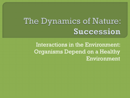 The Dynamics of Nature: Succession
