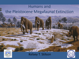 Humans and the North American Pleistocene