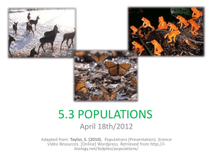 Increase in population size