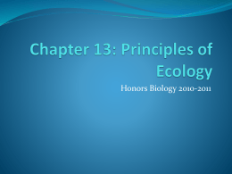 Chapter 13: Principles of Ecology