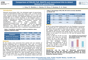 Comparison of MALDI-ToF, NAATS and