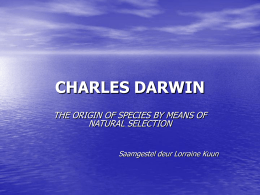CHARLES DARWIN - Teaching Biology Project