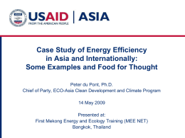 Case Study of Energy Efficiency in Asia