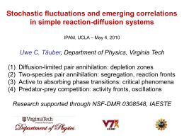 Stochastic fluctuations and emerging correlations in simple