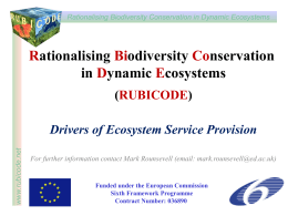 Drivers of ecosystem service change