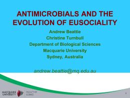 antimicrobials and the evolution of eusociality
