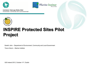 INSPIRE Protected Sites Data Publishing Pilot, Gareth John
