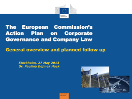 What can we further expect from the EU-Commission with