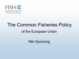 The EU Common Fisheries Policy