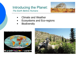 Introducing the Planet - Geography, Biomes, and Species Interactions