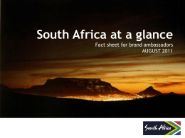 SA at a Glance - SouthAfrica.info