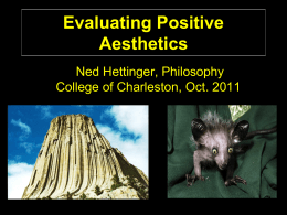 Evaluating Positive Aesthetics - Ned Hettinger
