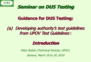 Authority`s test guidelines