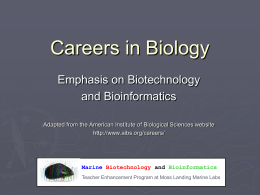 Careers in Biotechnology