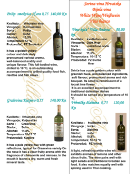 Excellent Croatian Red and White Wines