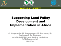 Presentation on Supporting Land Policy Development and