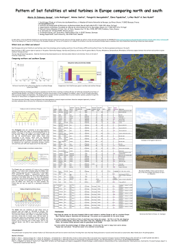 Pattern of bat fatalities at wind turbines in Europe
