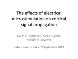 The effects of electrical microstimulation on cortical signal propagation