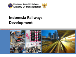 Indonesia Railway Development - OIC-VET