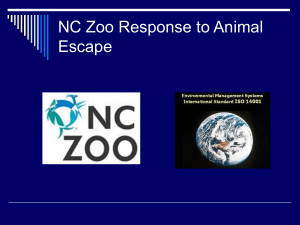 NC Zoo Response to Animal Escape