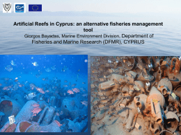 Artificial Reefs in Cyprus