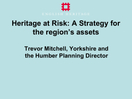 Heritage at Risk - Leeds Beckett University