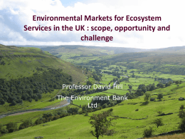 Env markets for ecosystem services
