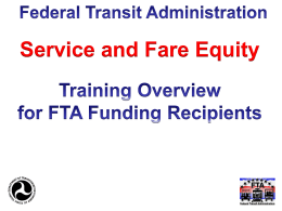 Title VI Service and Fare Equity