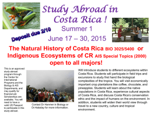 The Natural History of Costa Rica