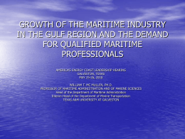 growth of the maritime industry in the gulf region and the demand