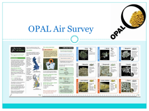 OPAL Air survey - Field Studies Council