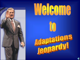 Adaptations JEOPARDY