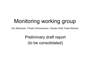 Monitoring working group