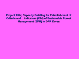 Sustainable Forest Management 2012 Proposal - US