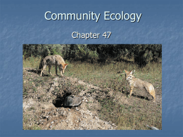 Community Ecology Class Notes