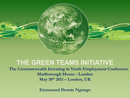 Green Team, Kenya - Your Commonwealth