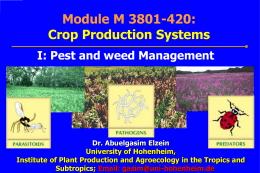 Pest and weed Management