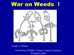 Weed Management ! ? - University of Idaho Extension