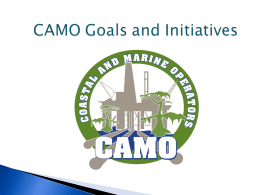 CAMO Goals and Initiatives - Coastal and Marine Operators
