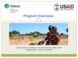 Adeso Livelihood support through cash transfers Program