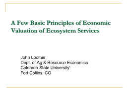 A Few Principles of Economic Valuation of Ecosystem Services
