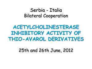 Acetylcholinesterase inhibitory activity of thio-avarol derivatives
