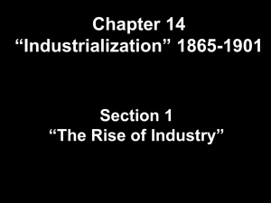 Causes of Rapid Industrialization