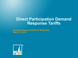 Overview of Draft Rule 24 Direct Participation Demand Response