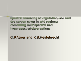 Spectral unmixing of vegetation, soil and dry carbon cover in arid