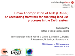Human appropriation of net primary productivity (NPP)