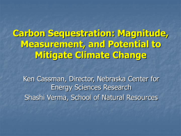 Magnitude, Measurement, and Potential to Mitigate Climate Change